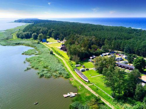 Widok od strony jeziora w kierunku Mielna